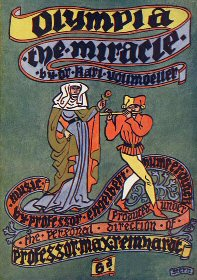 Programme for The Miracle - Olympia 1911